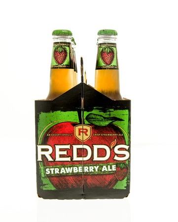 6 pack beer: Winneconne, WI - 15 March 2016:  A six pack of Redds strawberry ale