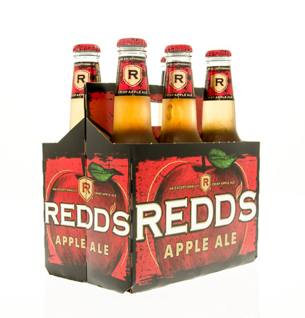 6 pack beer: Winneconne, WI - 15 March 2016:  A six pack of Redds apple ale