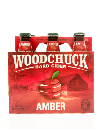6 pack beer: Winneconne, WI - 15 March 2016:  A six pack of Woodchuck hard cider Editorial