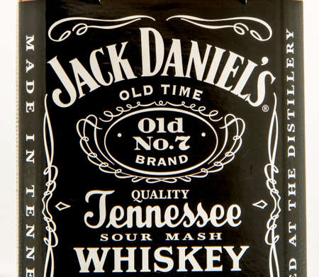 Winneconne, WI - 10 March 2016: A close up shot of Jack Daniels whiskey Editorial