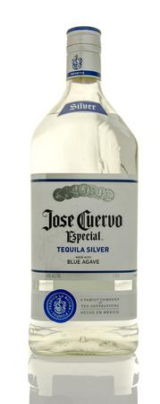 Winneconne, WI - 10 March 2016: A bottle of Jose Cuervo tequila silver