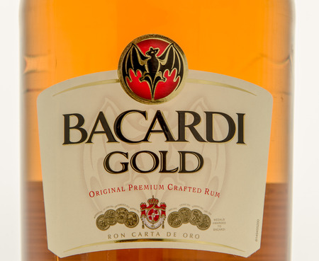 Winneconne, WI - 10 March 2016: A close up shot of Barcardi Gold rum Editorial