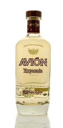 avion: Winneconne, WI - 19 March 2016:  A bottle of Avion tequila Editorial