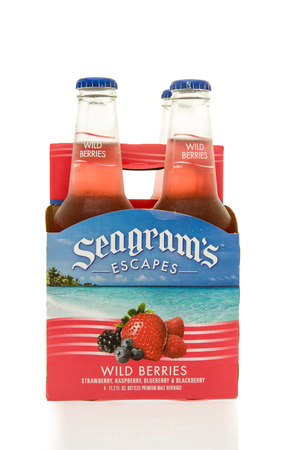 escapes: Winneconne, WI - 15 March 2016:  A six pack of  Seagrams Escapes wine coolers in wild berries flavor Editorial