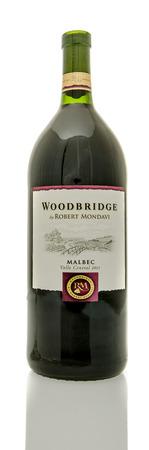 woodbridge: Winneconne, WI - 19 March 2016:  A bottle of Woodbridge wine in Malbec flavor