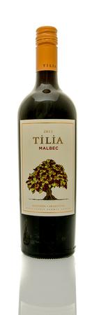 tilia: Winneconne, WI - 16 March 2016:  A bottle of Tilia wine in malbec flavor Editorial