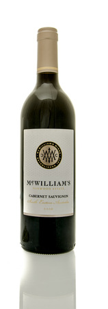 cabernet: Winneconne, WI - 16 March 2016:  A bottle of McWilliamss wine in cabernet sauvignon flavor