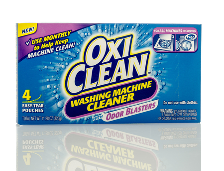 odour: Winneconne, WI - 16 March 2016: Box Oxi clean washing machine cleaner on an isolated background. Editorial