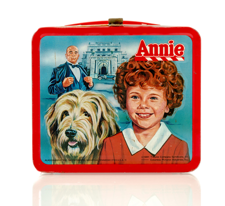 annie: Winneconne, WI - 8 April 2016:  Lunch box featuring Annie on an isolated background.