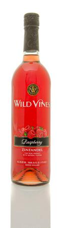zinfandel: Winneconne, WI - 19 March 2016:  A bottle of Wild Vines zinfandel in raspberry flavor Editorial