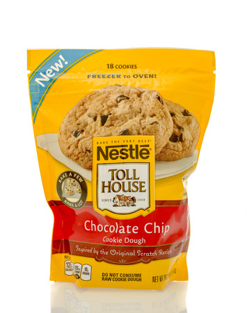 nestle: Winneconne, WI - 30 March 2016: Bag of Nestle Toll House chocolate chip cookie dough Editorial