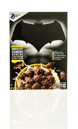batman: Winneconne, WI - 26 April 2016: Box of Batman cereal on an isolated background Editorial
