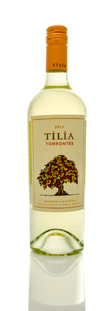tilia: Winneconne, WI - 16 March 2016:  A bottle of Tilia wine in torrontes flavor Editorial