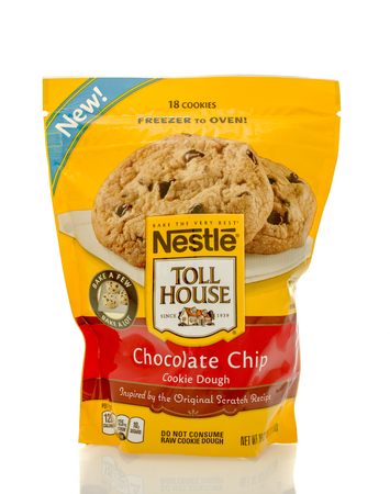 toll: Winneconne, WI - 30 March 2016: Bag of Nestle Toll House chocolate chip cookie dough Editorial