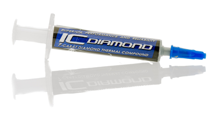 Ic: Winneconne, WI - 1 July 2016:  Tube of IC diamond thermal paste on an isolated background