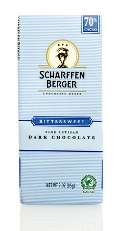 berger: Winneconnie, WI - 15 July 2016: Scharffen Berger chocolate on an isolated background.