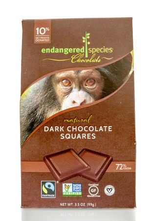 Winneconnie, WI - 15 July 2016: Endangered species chocolate on an isolated background. Editorial