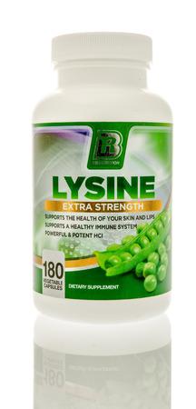 Winneconnie, WI - 15 July 2016:  Bri nutrition lysine on an isolated background.