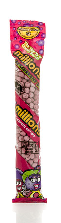 millions: Winneconnie, WI - 18 July 2016:  Package of millions chewy sweets on an isolated background.