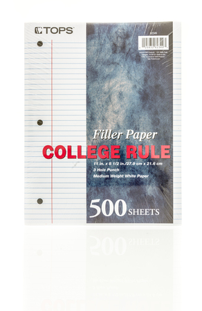 filler: Winneconne, WI - 20 August 2016:  Package of Tops filler paper on an isolated background.