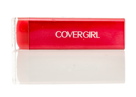 Winneconne, WI - 7 September 2016:  Covergirl red lipstick on an isolated background. Editorial