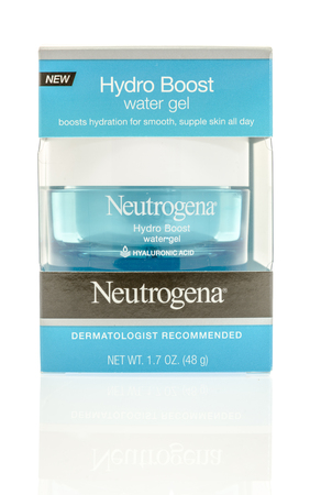 heals: Winneconne, WI - 7 September 2016:  Package of Neutrogena hydro boost water gel on an isolated background.