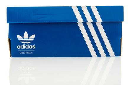 adidas: Winneconne, WI - 29 October 2016:  Adidas orginals shoebox on an isolated background.