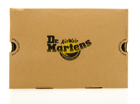shoe box: Winneconne, WI - 2 November 2016: Dr. Martens shoe box on an isolated background.