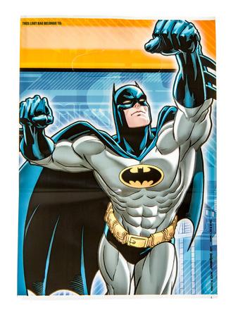 batman: Winneconne, WI - 2 November 2016: Batman loot bag on an isolated background. Editorial