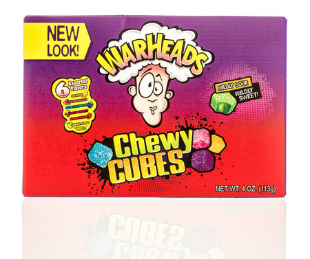 warheads: Winneconne, WI - 2 November 2016:  Package of Warheads sour candy on an isolated background.