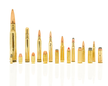 Calibers of bullets including 223, 5.56  39, 7.62, 30-30 win, 308 win, 270 win, 300 win mag, 416 rem mag, 50  45 long  , 44 rem mag, 357 mag, 38 special, 45  , 9 mm, 380 auto, 22