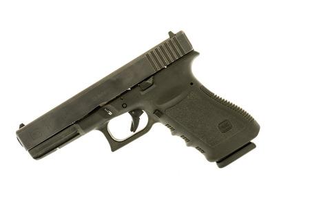 Winneconne, WI - 6 December 2016:  Glock 21 handgun in 45 caliber on an isolated background.