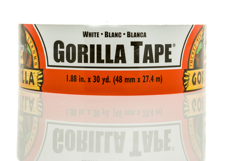 sealing tape: Winneconne, WI - 27 December 2016:  Roll of Gorilla tape on an isolated background. Editorial