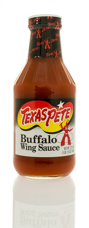 pete: Winneconne, WI - 2 January 2017:  Bottle of Texas Pete wing sauce on an isolated background. Editorial
