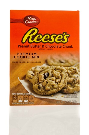 reese's: Winneconne, WI - 7 January 2017:  Box of Betty Crocker Reeses cookie mix on an isolated background.