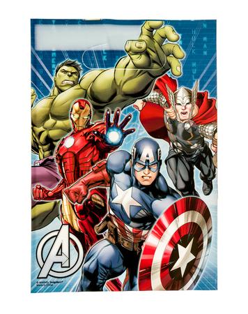 Winneconne, WI -29 januari 2017: Avengers loot tas op een geïsoleerde achtergrond.