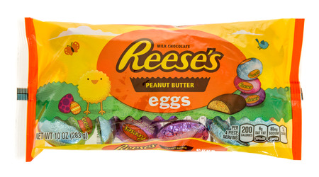 reese's: Winneconne, WI - 24 February 2017:  Bag of Reesess peanut butter eggs on an isolated background.