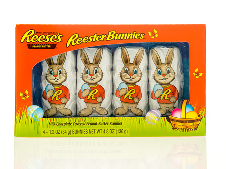 reese's: Winneconne, WI - 16 April 2017: A box of Reeses Reester bunnies on an isolated background. Editorial