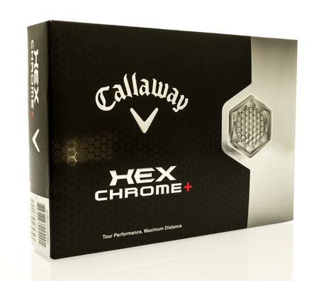 chorme: Winneconne, WI - 16 July 2017: A box of Callaway golf balls on an isolated background. Editorial