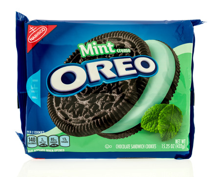 Winneconne, WI - 23 July 2017: A package of Mint Oreo on an isolated background. Editorial