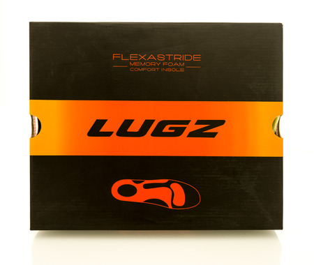 Winneconne, WI - 28 October 2017:  A Lugz shoebox on an isolated background.
