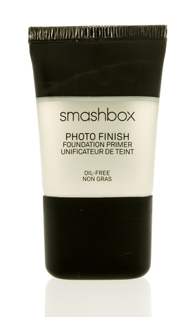 Winneconne, WI - 20 November 2017:  A tube of  smashbox photo finsih foundation primer on an on an isolated background.