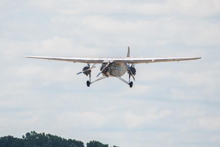 Oshkosh, WI - 24 July 2017:  A Vintage Transcontinental Air Transport Ford model 5-AT-B trimotor aircraft