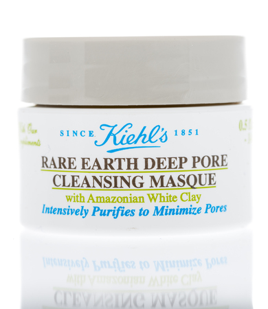 Winneconne, WI - 14 December 2017: A package of Kiehls rare earth deep pore cleansing masque on an isolated background.