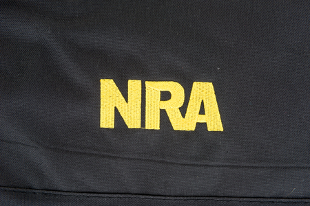Winneconne, WI -24 Dec 2017: A close up shot of the NRA Logo on an isolated background.