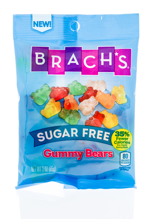 Winneconne, WI - 18 January 2018: A package of  Brachs gummy bears candy on an isolated background. Editorial