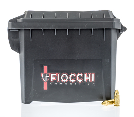 Winneconne, WI -  30 March 2018: A canister of Fiocchi ammunition on an isolated background.