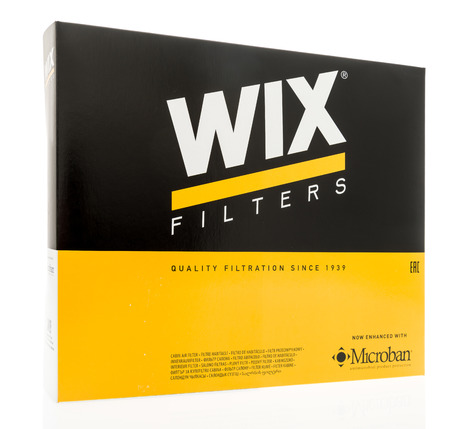 Winneconne, WI - 7 August 2018: A box of Wix air filter on an isolated background