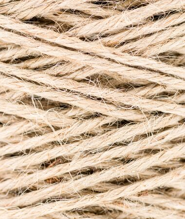 an abstract close-up shot of a roll of twine 免版税图像