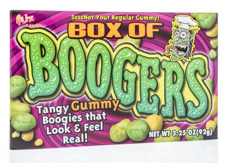 Winneconne, WI - 8 de febrero de 2019: un paquete de caja Flix de gomitas de mocos sobre un fondo aislado Editorial